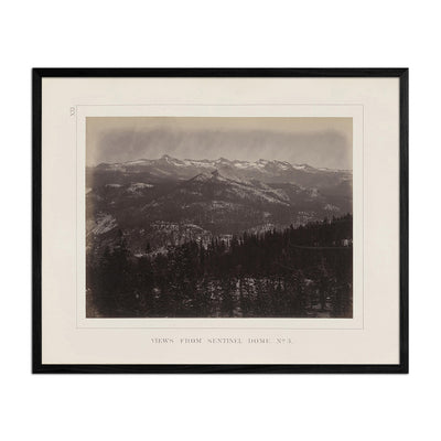 View from Sentinel Dome 3, Yosemite 1868