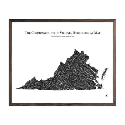 Virginia Hydrological Map