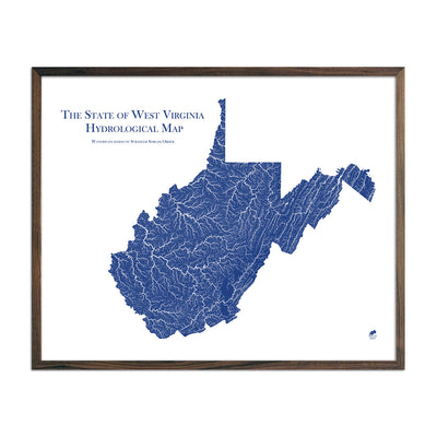 West Virginia Hydrology Map
