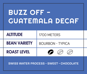 Buzz Off! Decaf Swiss Water Process