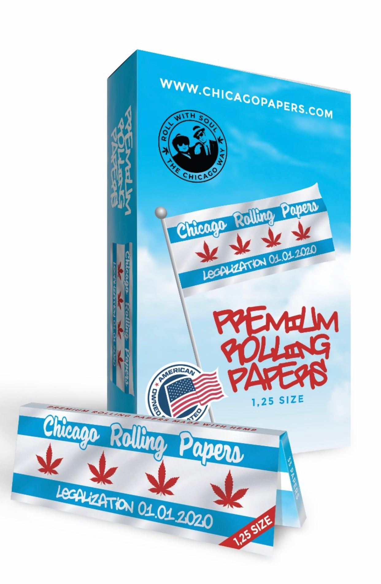 1 pack - Size.1.25 33 Rolling Papers