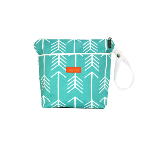 Arrow Wet Bag  - Aqua