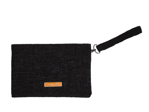 Limited Edition Clutch Wallet Black Chenille