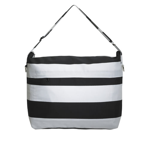Privé Diaper Bag in Black Stripe