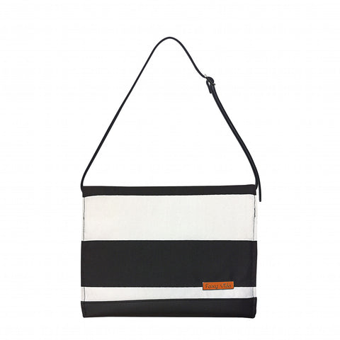 Diaper Clutch in Black & White Stripe