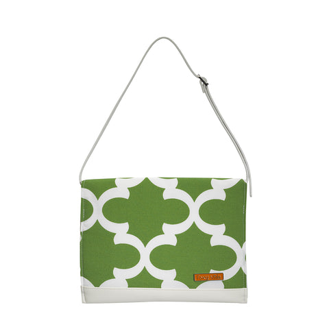 Diaper Clutch in Moss Ahoy