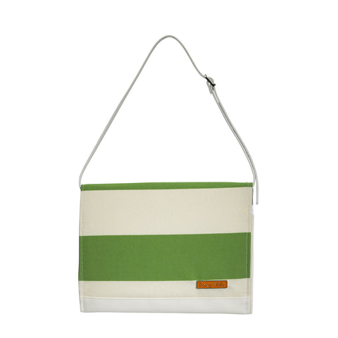 Diaper Clutch in Moss Stripe