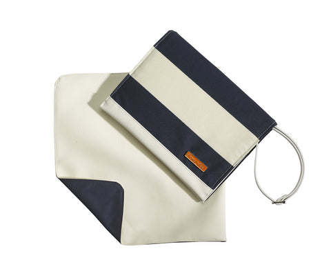 Diaper Clutch in Navy Ahoy