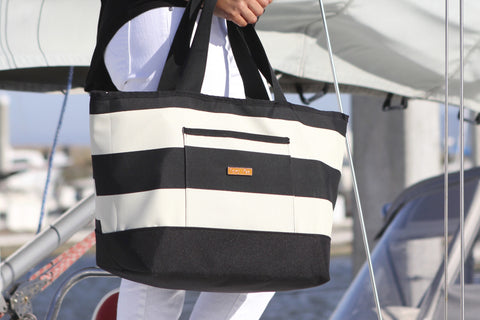 Weekender Tote Black Stripe LIMITED EDITION