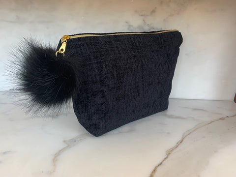 Limited Edition  Velvet Pouch - Black Geo