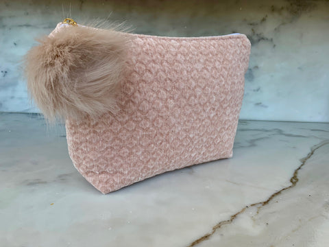 Limited Edition  Velvet Pouch - Blush