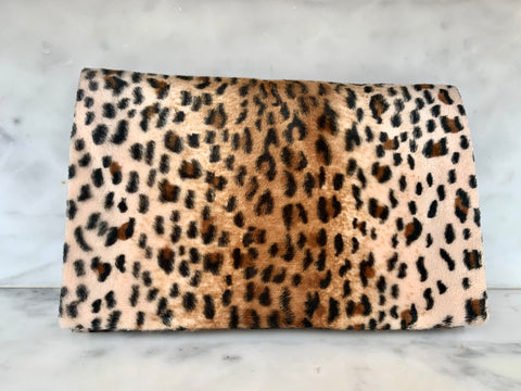 Limited Edition  Velvet Clutch Wallet - Leopard Lyfe