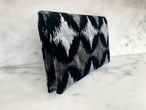 Limited Edition  Velvet Clutch Wallet - Silver Dance