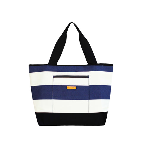 Weekender Tote in Navy Stripe