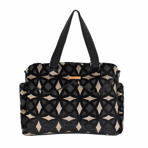 LIMITED EDITION Satchel Diaper Bag in Black Diamond Velvet