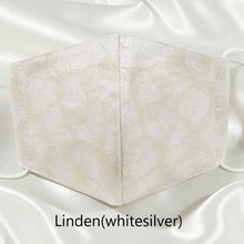 Load image into Gallery viewer, Linden (white silver) - 西陣織マスク