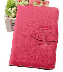 Luxury Leather Case with hand strap for iPad mini 2 - PINK