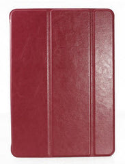 Luxury  Leather Case with magnet cover for iPad 5 Air - RED