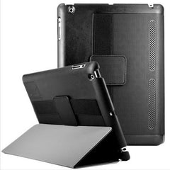 iPad 2/3/4 Leather Folio Case Cover W Hand Strap