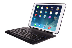 360 degree rotating iPad Air case with detachable Bluetooth keyboard
