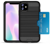 SLIM ARMOR HYBRID CASE WITH CARD HOLDER iPhone 11 black