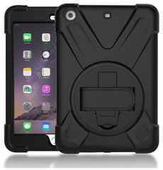 iPad Air 2 (& Mini) Case cover with rotating leather hand strap