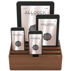 ALLDOCK - ALL NATURAL - Medium 4 USB Hub - Walnut