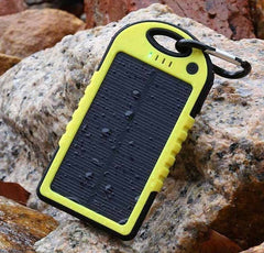 Solar and Waterproof Power Bank 5000 mAh with Dual USB port