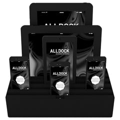 ALLDOCK - ORIGINAL - Large 6 USB Hub - Black