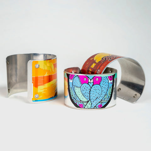 Recycled Can Cuffs