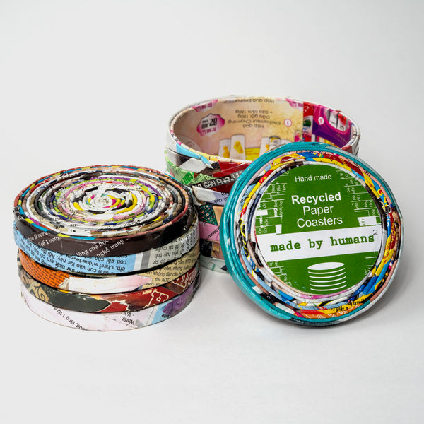 Recycled Paper Coaster Set