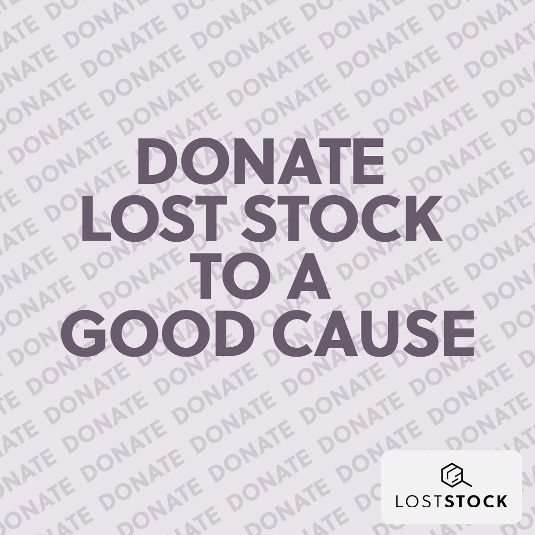 Donate Lost Stock - Shopping for Good