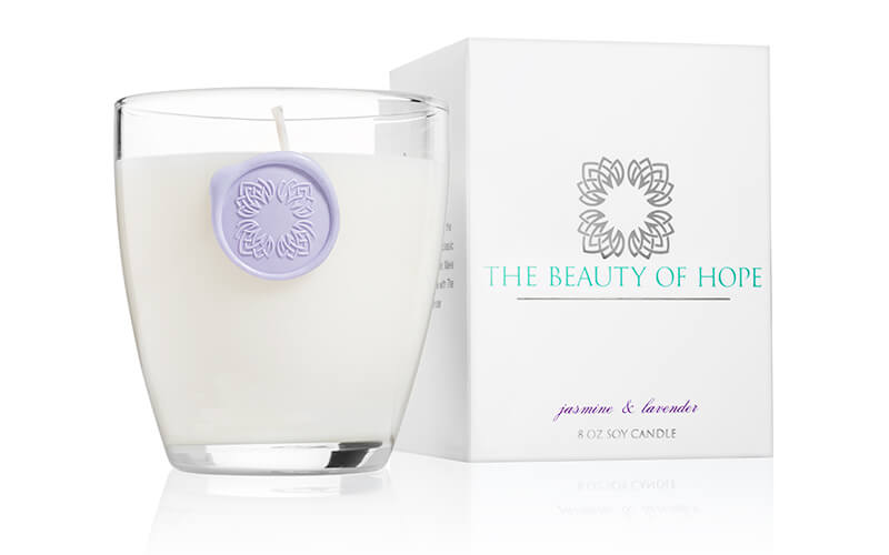 Beauty of Hope Jasmine & Lavender Votive Candle
