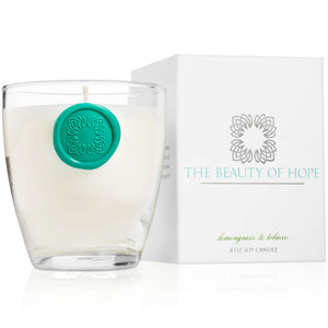 Beauty of Hope Lemongrass & Tobacco Votive Candle