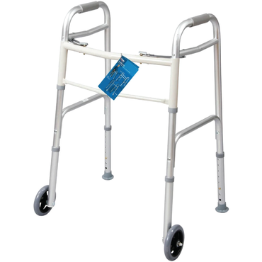 "Vonco Carex Dual-Button Walker With 5"" Wheels"