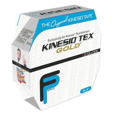 "Kinesio Tape, Tex Gold FP, 2"" x 34 yds, Blue, Bulk Roll"