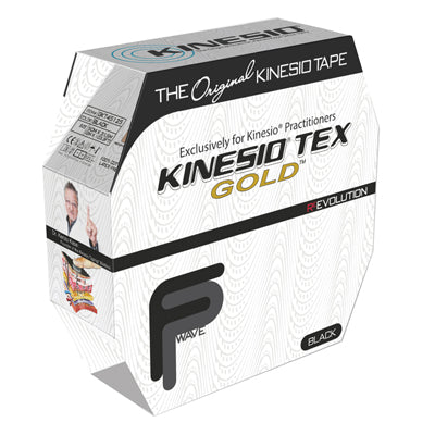 "Kinesio Tape, Tex Gold, 2"" x 34 yds, Black, Bulk Roll"