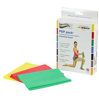 Sup-R Band Latex Free Exercises PEP Pack