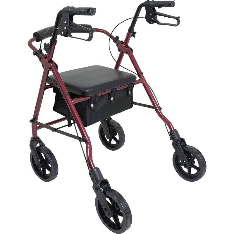 "Vonco Probasics Deluxe Aluminum Rollator with 8"" Wheels"