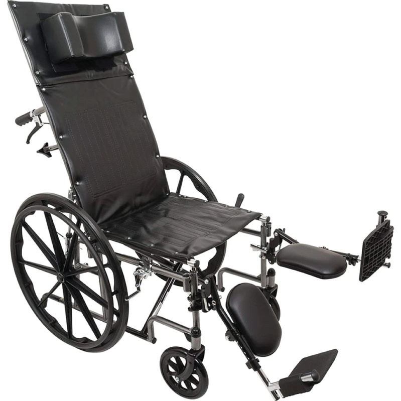Vonco ProBasics Reclining Wheelchair with Removable Arms and Elevating Legrest