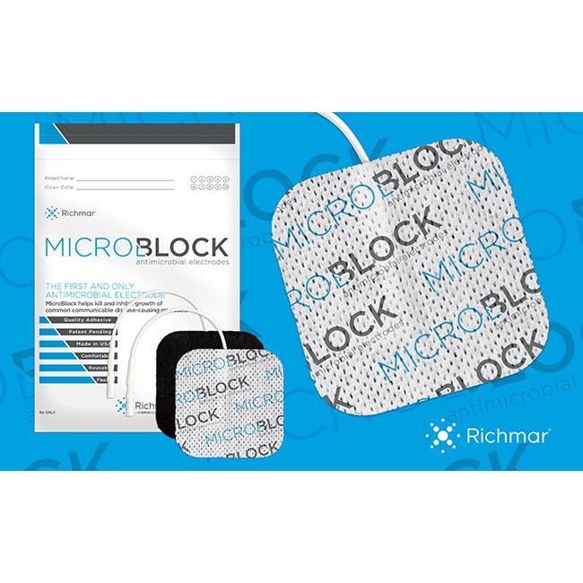 MicroBlock Antimicrobial White Cloth Electrodes