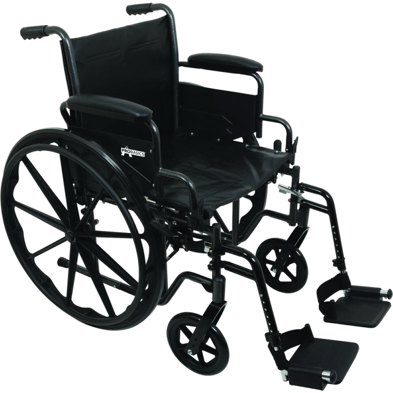 Vonco ProBasics K2 Wheelchair with Flip Back arms and Hemi-Height Position, 20