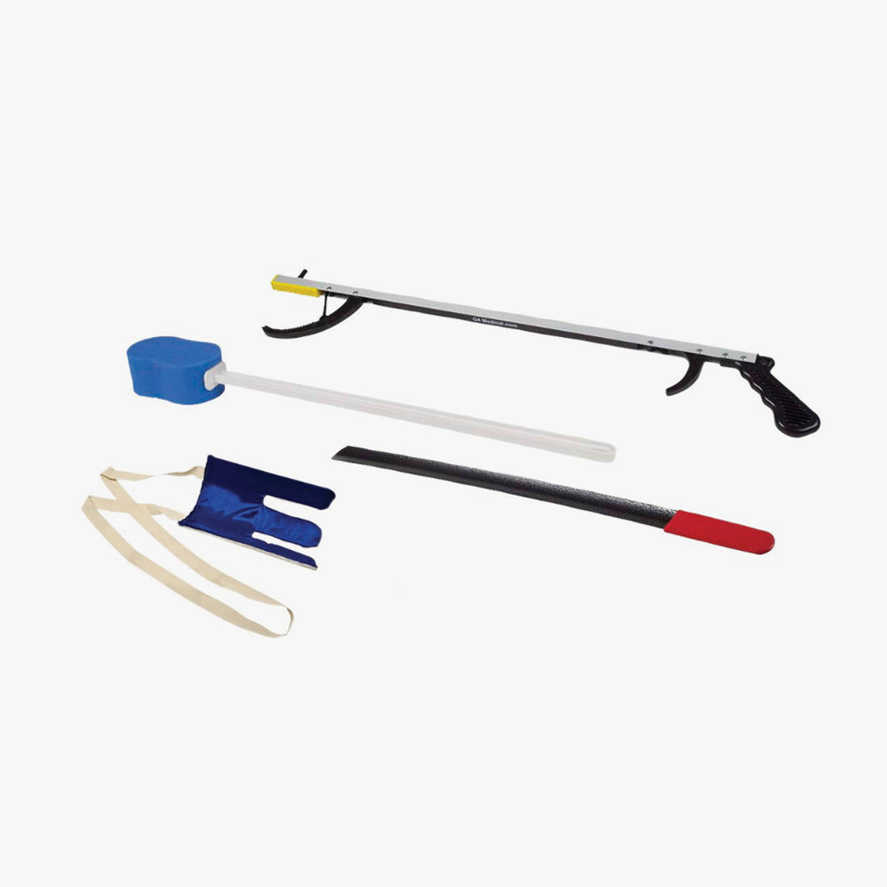 "FabLife™ Hip Kit: 26"" reacher, contoured sponge, flexible sock aid, 24"" metal shoehorn"