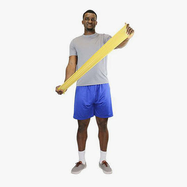 Cando Low Powder Pre-Cut Exercise Band, Box of 40
