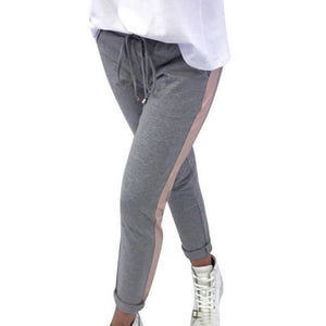 Side Striped Sweatpants Plus Size Available