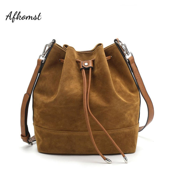 AFKOMST Drawstring Bucket Bag