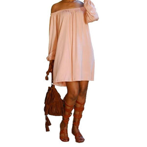 Long Sleeve Off Shoulder Dress