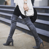 Thigh High Boots Suede Boots