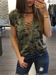 Short Sleeve Camouflage T Shirt