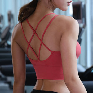 Cross Back Yoga Sports Bra